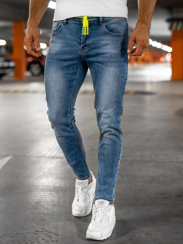 Bolf Herren Jeans Hose skinny fit Dunkelblau  KX555