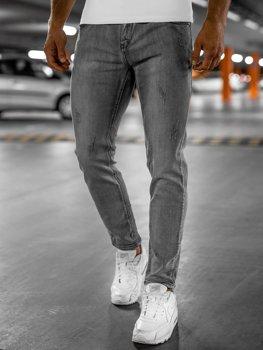 Bolf Herren Jeans Hose skinny fit Grau  KX129
