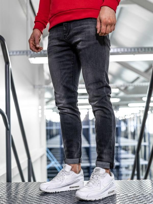 Bolf Herren Jeans Hose slim fit Schwarz  KX311
