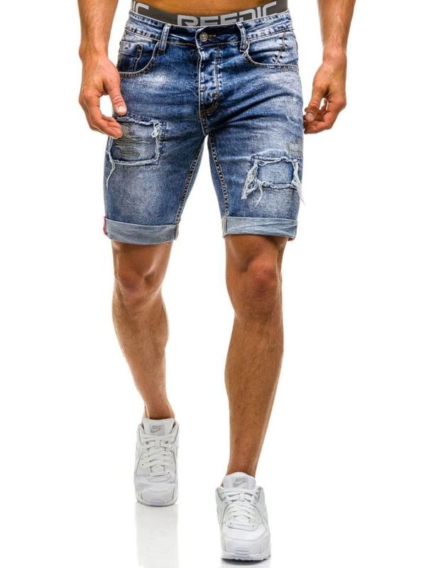 Bolf Herren Jeans Shorts Blau 9577
