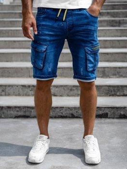 Bolf Herren Jeans Shorts Cargo Hose Dunkelblau  HY663