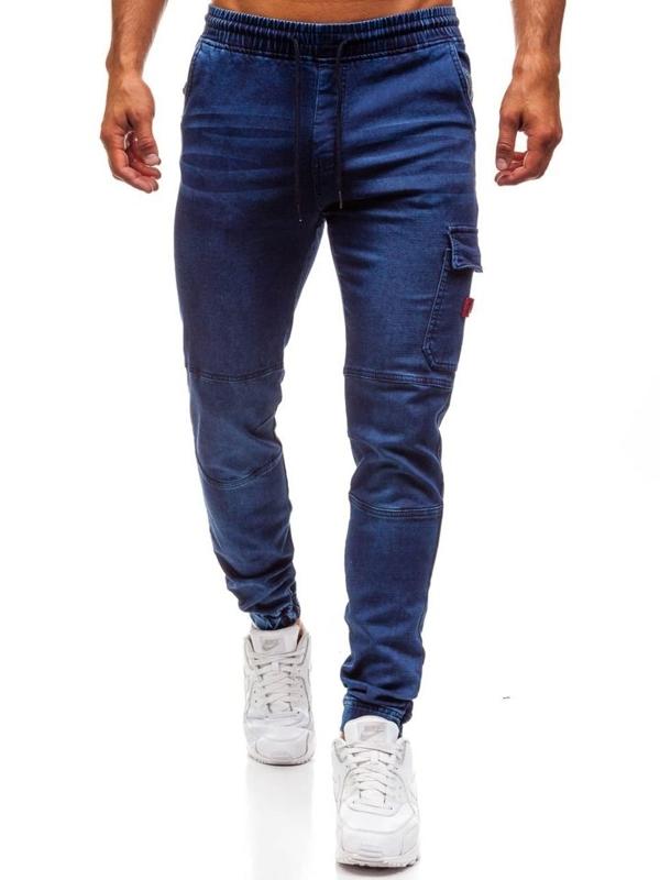 Bolf Herren Jeanshose Jogger Dunkelblau  Y271