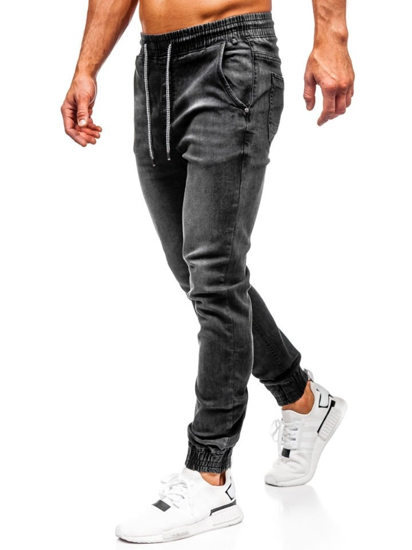 Bolf Herren Jeanshose Jogger Schwarz   KA1073