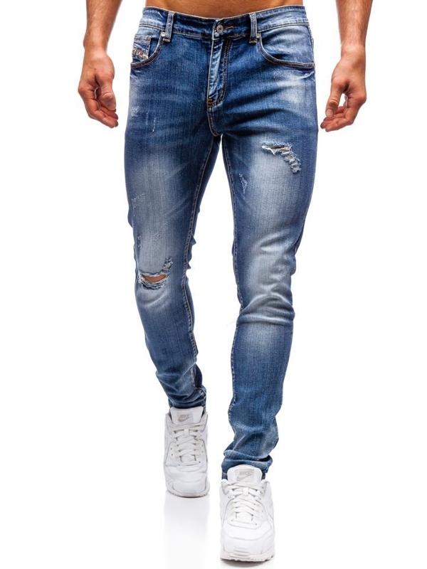 Bolf Herren Jeanshose Slim fit Dunkelblau  71824