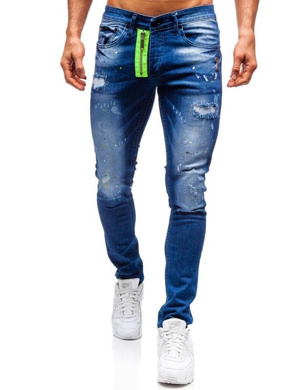 Bolf Herren Jeanshose Slim fit Dunkelblau  9236