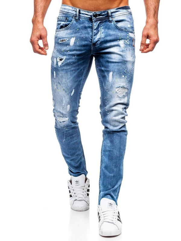 Bolf Herren Jeanshose regular fit Dunkelblau  4013