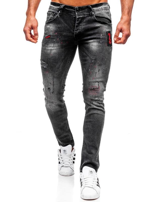 Bolf Herren Jeanshose regular fit Schwarz  4014