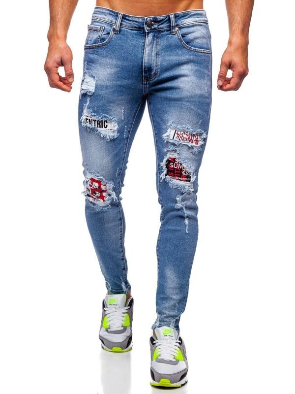 Bolf Herren Jeanshose skinny fit Dunkelblau  KA1735