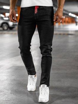 Bolf Herren Jeanshose skinny fit Schwarz  KX557
