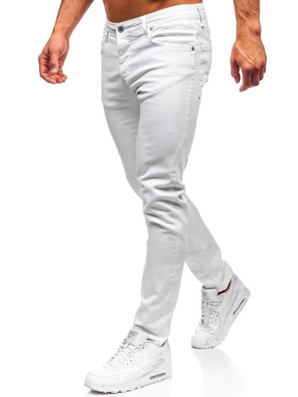 Bolf Herren Jeanshose skinny fit Weiß  55021