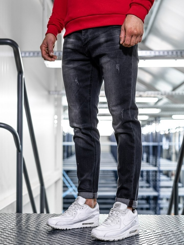 Bolf Herren Jeanshose slim fit Schwarz KX312
