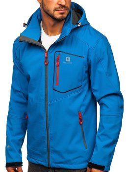 Bolf Herren Softshell Jacke Blau  AB152