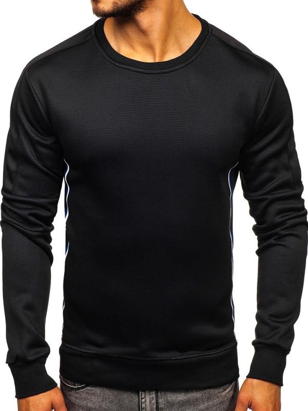Bolf Herren Sweatshirt ohne Kapuze Schwarz  DD737