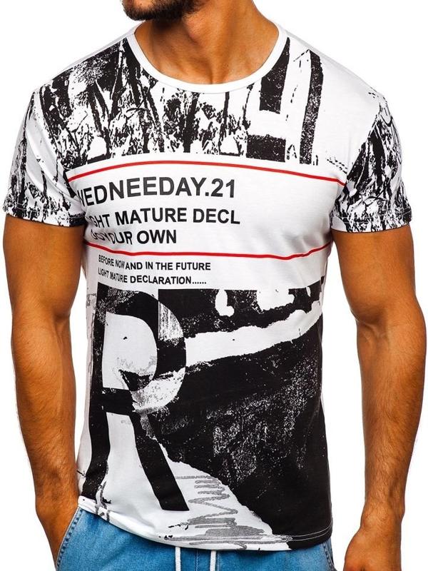 Bolf Herren T-Shirt mit Motiv Rot  SS671