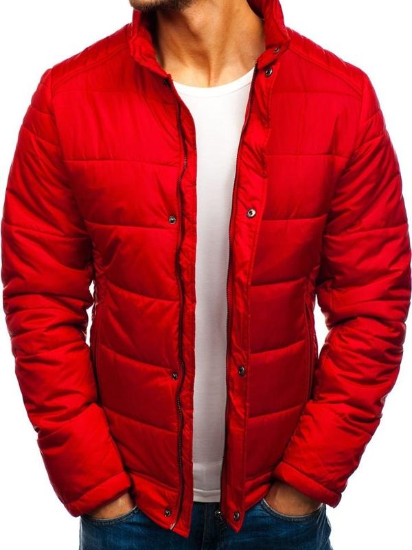 Bolf Herren Winterjacke Rot  83338