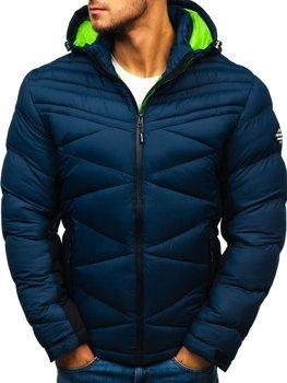 Bolf Herren Winterjacke Sport Jacke mit Steppmuster Dunkelblau  AB121