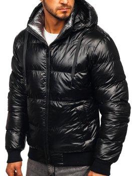 Bolf Herren Winterjacke mit Steppmuster Schwarz  92556