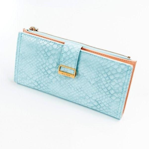 Damen Ökoledergeldbörse Blau 1040