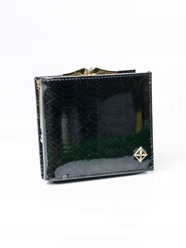 Damen Ökoledergeldbörse Schwarz 3006