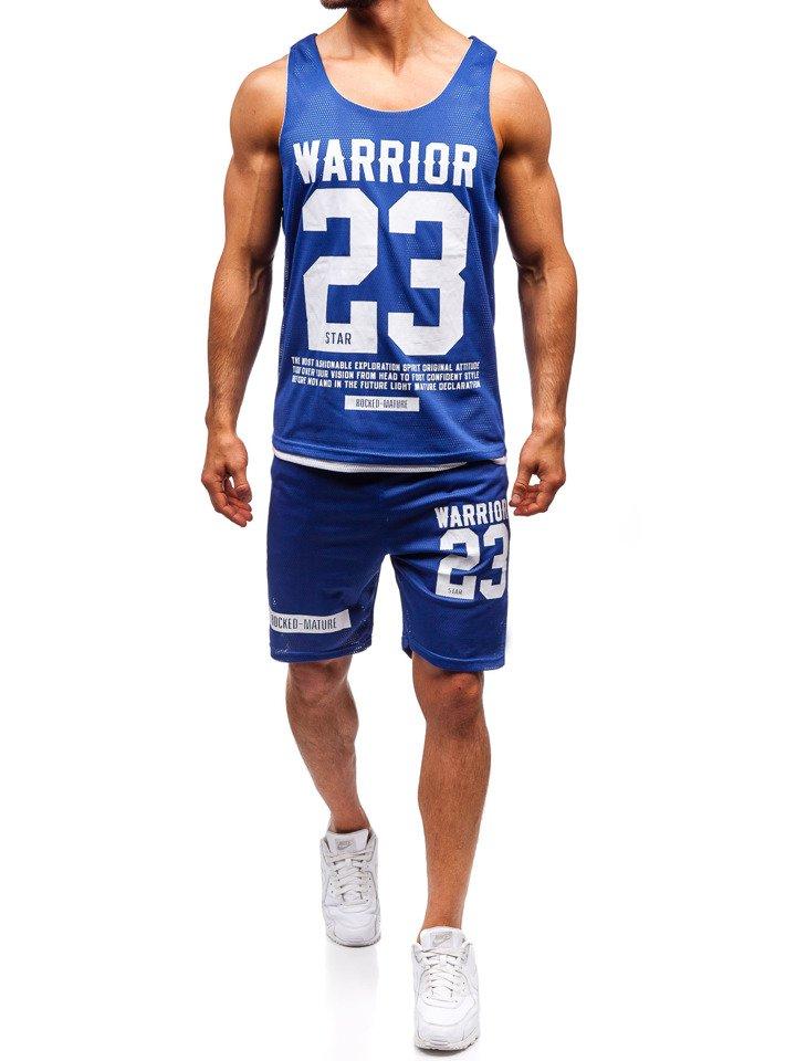 abc5a84a990db3 Bolf Herren Set T-Shirt + Kurze Hose Blau 100778