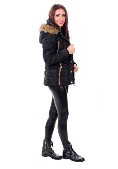 Bolf Damen Winterjacke Schwarz 015C