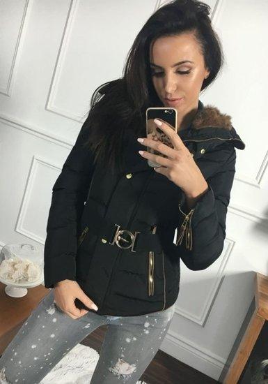 Bolf Damen Winterjacke Schwarz 11