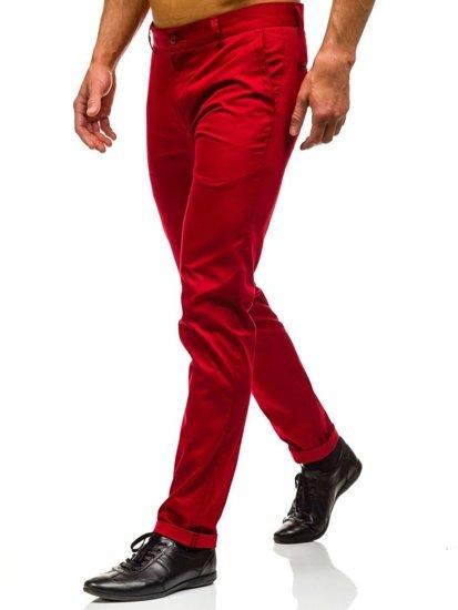 Bolf Herren Ausgehhose Rot  0204