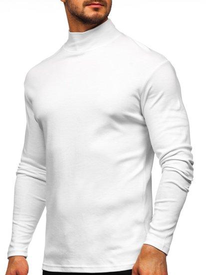 Bolf Herren Halb Rollkragenpullover Weiß  145348