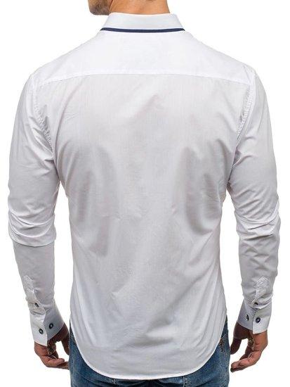 Bolf Herren Hemd Weiß 6857