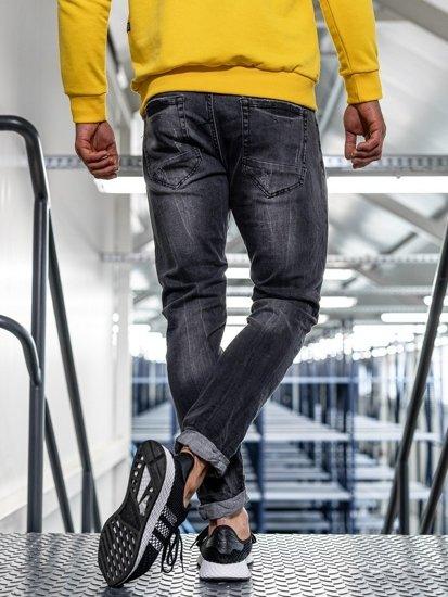 Bolf Herren Jeanshose straight leg Schwarz KX317