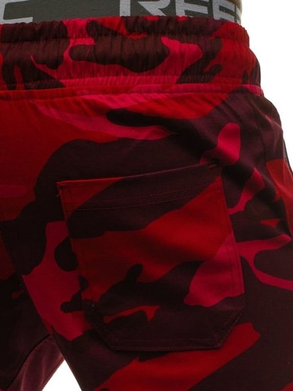 Bolf Herren Joggerhose Camo-Rot  0367