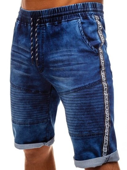 Bolf Herren Kurze Jeanshose Dunkelblau  HY190
