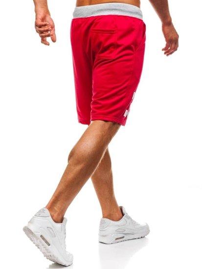 Bolf Herren Kurze Sporthose Rot  EX06-1