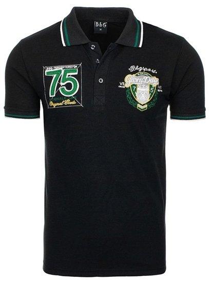 Bolf Herren Poloshirt Schwarz 0605