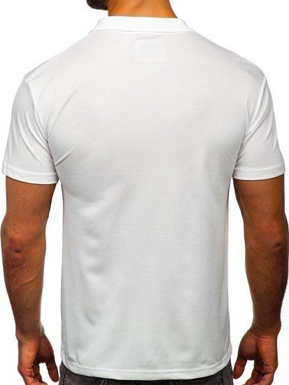 Bolf Herren Poloshirt Weiß  HS2005