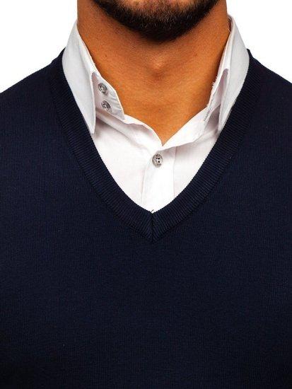 Bolf Herren Pullover Ärmellos Blau  H1939