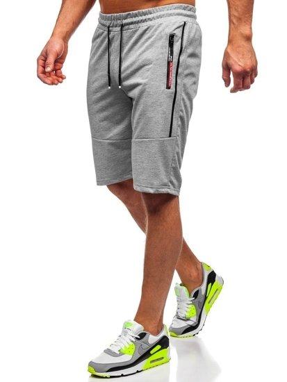 Bolf Herren Shorts Badehose Grau  JX366