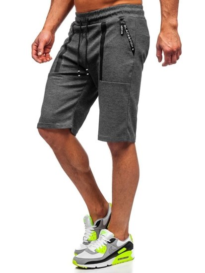 Bolf Herren Shorts Badehose Schwarzgrau  JX879