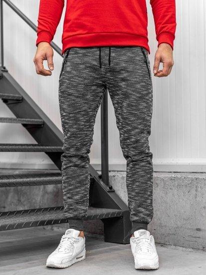 Bolf Herren Sporthose Grau  8740