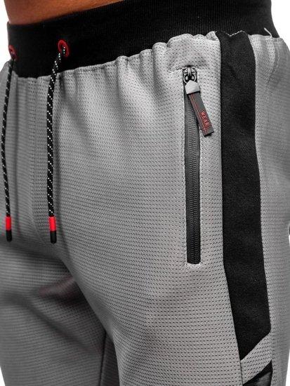 Bolf Herren Sporthose Grau  AM80