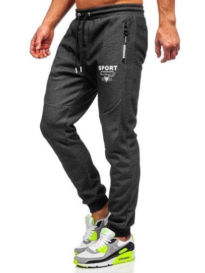 Bolf Herren Sporthose Schwarz-Weiß  Q1042