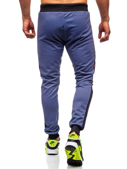 Bolf Herren Sporthose mit Print Blau  AM96