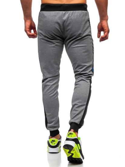 Bolf Herren Sporthose mit Print Grau  AM96
