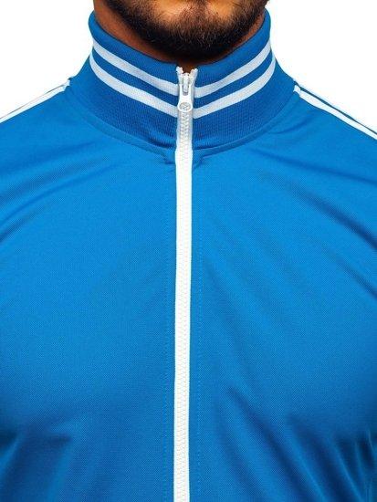 Bolf Herren Sweatshirt mit Reißverschluss retro style Blau  11113