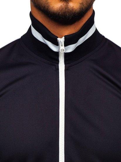 Bolf Herren Sweatshirt mit Reißverschluss retro style Dunkelblau  2126