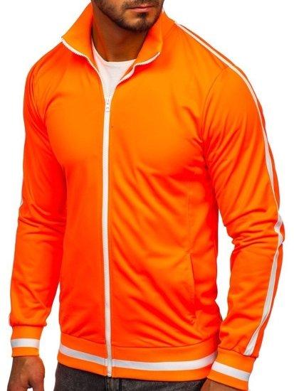 Bolf Herren Sweatshirt mit Reißverschluss retro style Orange  2126