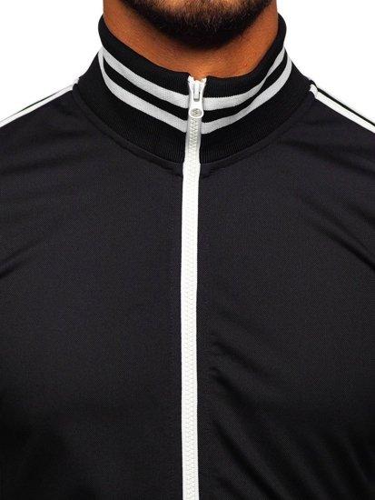 Bolf Herren Sweatshirt mit Reißverschluss retro style Schwarz  11113