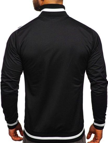Bolf Herren Sweatshirt mit Reißverschluss retro style Schwarz  2126