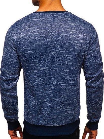Bolf Herren Sweatshirt ohne Kapuze Dunkelblau  2001-4