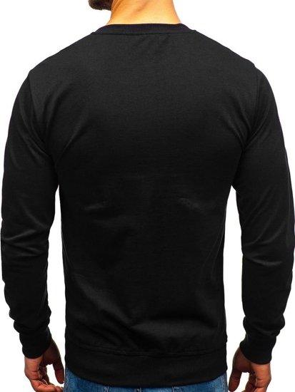 Bolf Herren Sweatshirt ohne Kapuze Schwarz  1221